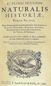 Historia naturalna, Pliniusz Starszy